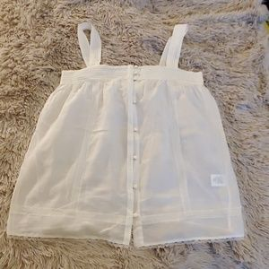 Beautiful sheer white Joie button down tank